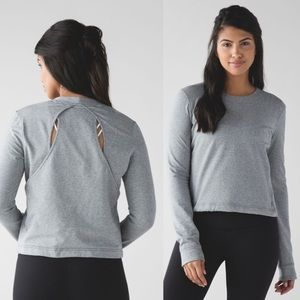 Lululemon Getaway Crew Heathered Grey 4 A250
